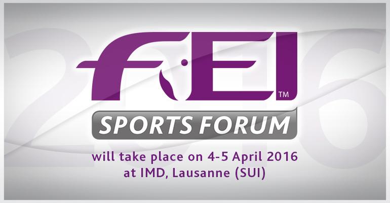 FEI Sports Forum 2016